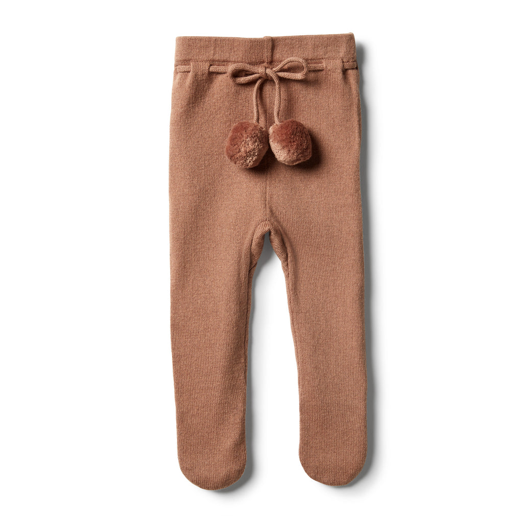 Wilson & Frenchy - Nutmeg Knitted Legging with Feet