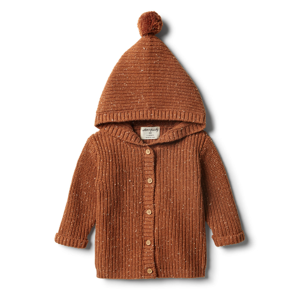 Wilson & Frenchy - Toasted Pecan Rib Knitted Jacket