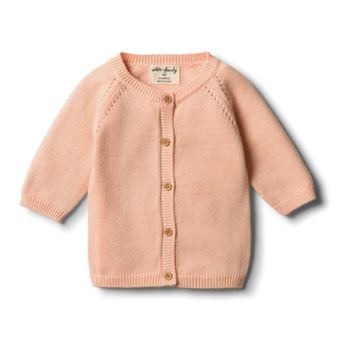 Wilson & Frenchy - Tropical Peach Knitted Cardigan