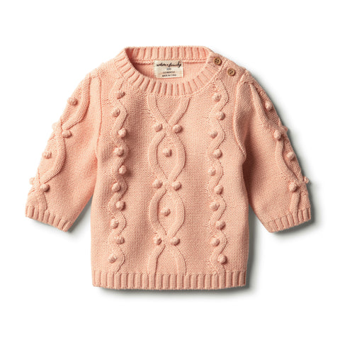 Wilson & Frenchy - Tropical Peach Knitted Jumper with Baubles