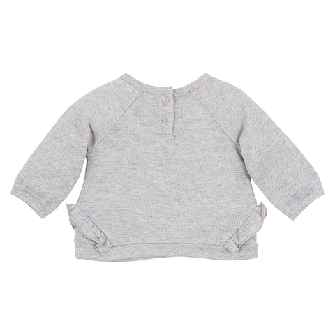 Bebe - Viola Frill Embroidered Sweatshirt