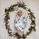 Load image into Gallery viewer, Snuggle Hunny Kids - Eucalypt Baby Jersey Wrap & Beanie Set