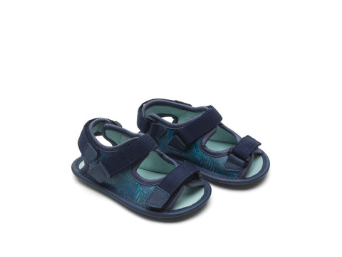 Tip Toey Joey - Boardy Originals Sandals (Blue Palm / Rustic Blue)