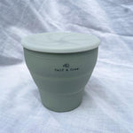 Load image into Gallery viewer, Calf & Crew - Collapsible Silicone Snack Cup With Lid Sage