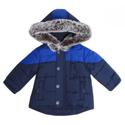 Bebe - Boys Hooded Coat (Navy)
