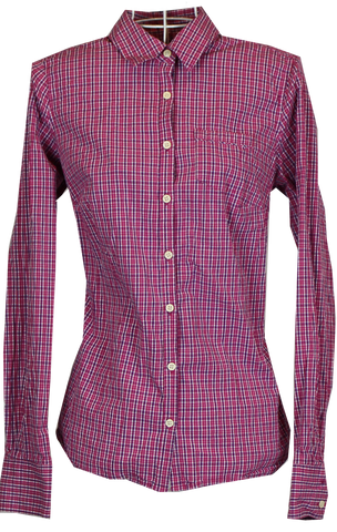Gingham Blouse In Pink