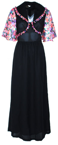 Black Maxi with Vest Look Alike Top