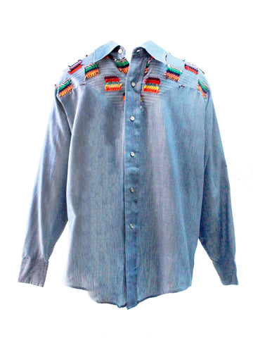 1970s Andy New York Multi Yarn Denim Shirt