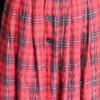Military Checkered Red Skirt
