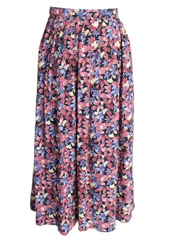 In The Dark Floral On Round Skirt