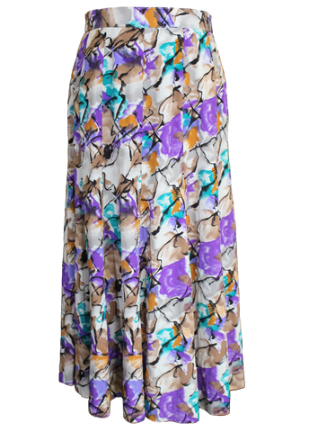 Purple Marbles In Midi Skirt