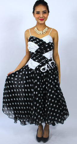 Bow Back Polka Dots Dress