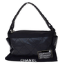 Chanel Paris Biarritz Quilted Shoulder Bag In Canvas
