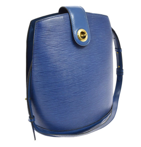Louis Vuitton Shoulder Bag Blue Epi Leather