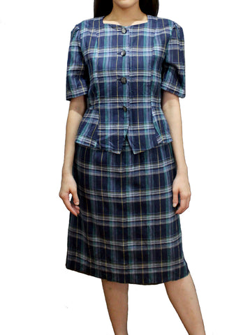 1970 Peplum Checkers Dress