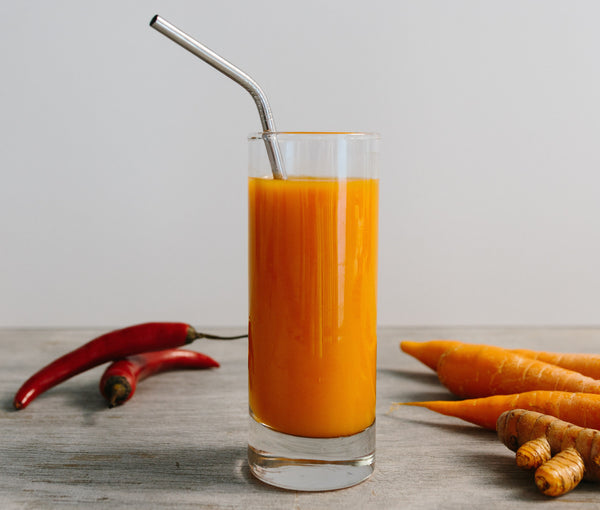 cayenne pepper cold pressed juice recipe with carrot