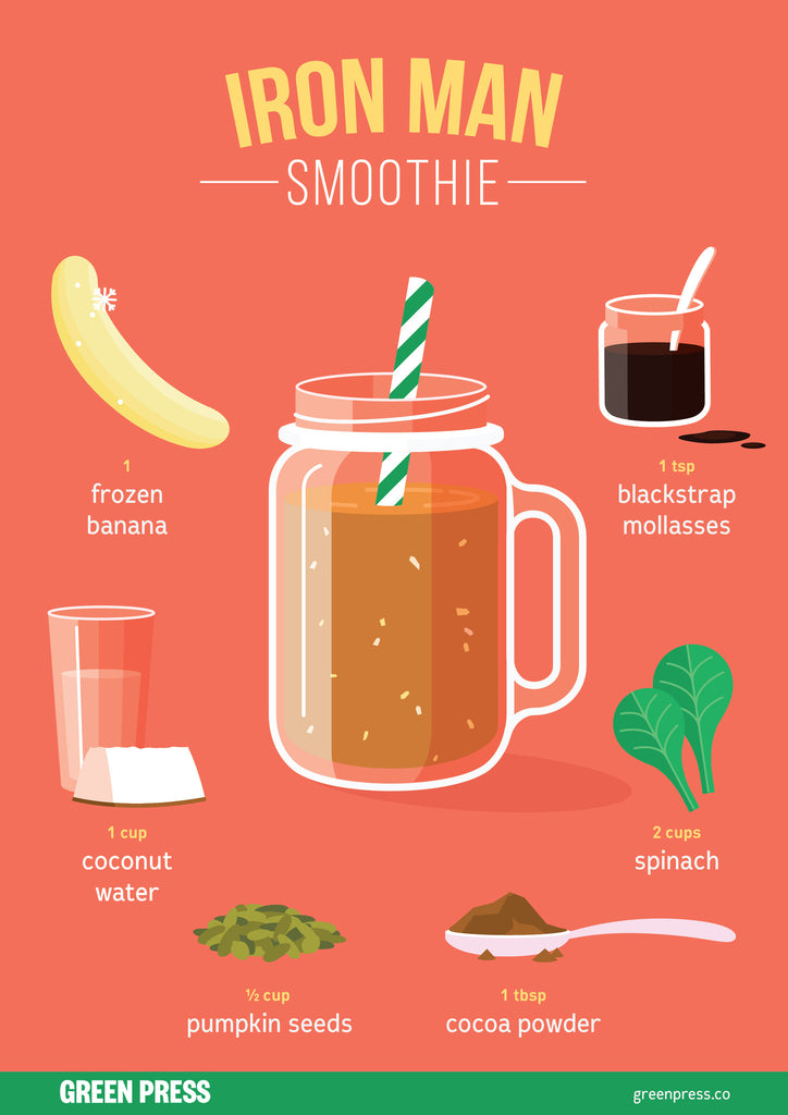 iron man smoothie recipe by green press