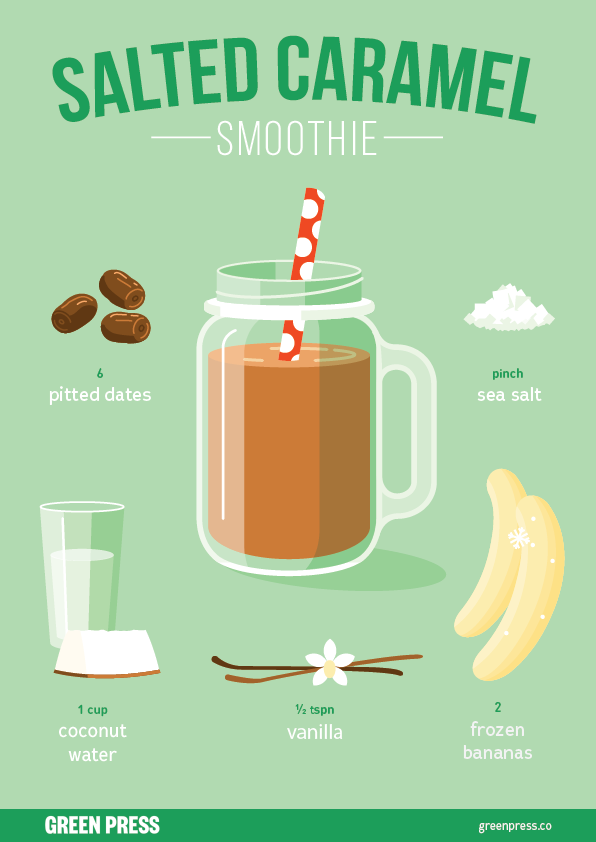 green press salted caramel smoothie