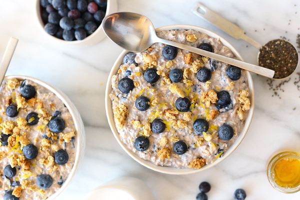 blueberry and lemon overnight oats