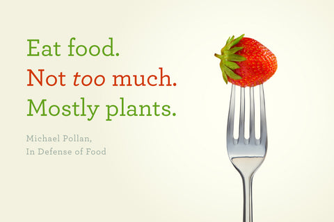 michael pollan eat food not too much mostly plants