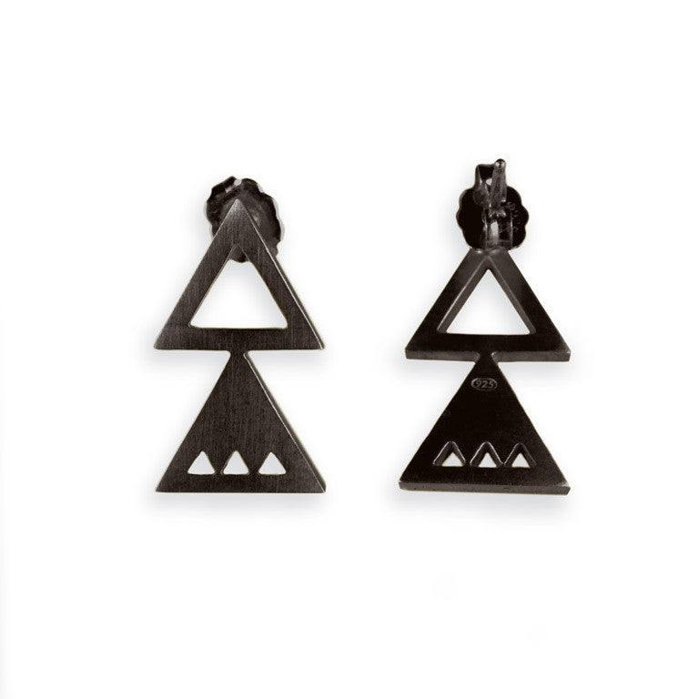 ATTIC EARRINGS OXIDE