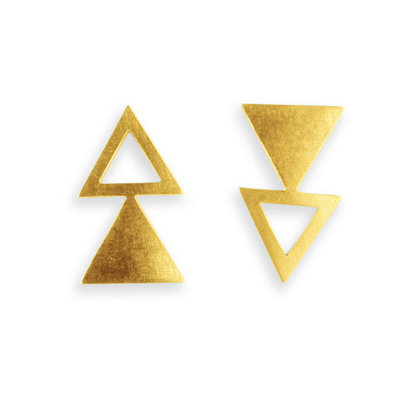 UPTURNED EARRINGS GOLD