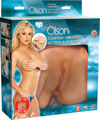 Bree Olson Vibrating Suction-Base Pussy & Ass