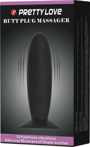 Butt Plug Massager (Black)