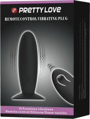 Remote Control Vibrating Plug (Black)