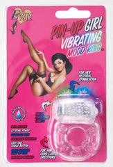 Pin-Up Girl Vibrating Mood Ring (Clear)