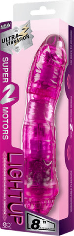 "Rechargeable Vibrator 8"" (Pink)"