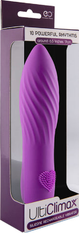 Silicone Rechargeable Vibrator Heart (Purple)