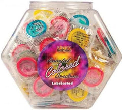 Colored Condoms - (144 X Assorted Bowl)