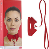 Classic Collar With Leash (Red)