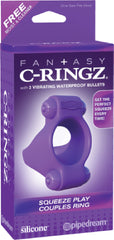 Squeeze Play Couples Ring (Lavender)