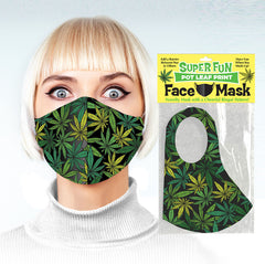 Super Fun Face Mask - Pot Leaf