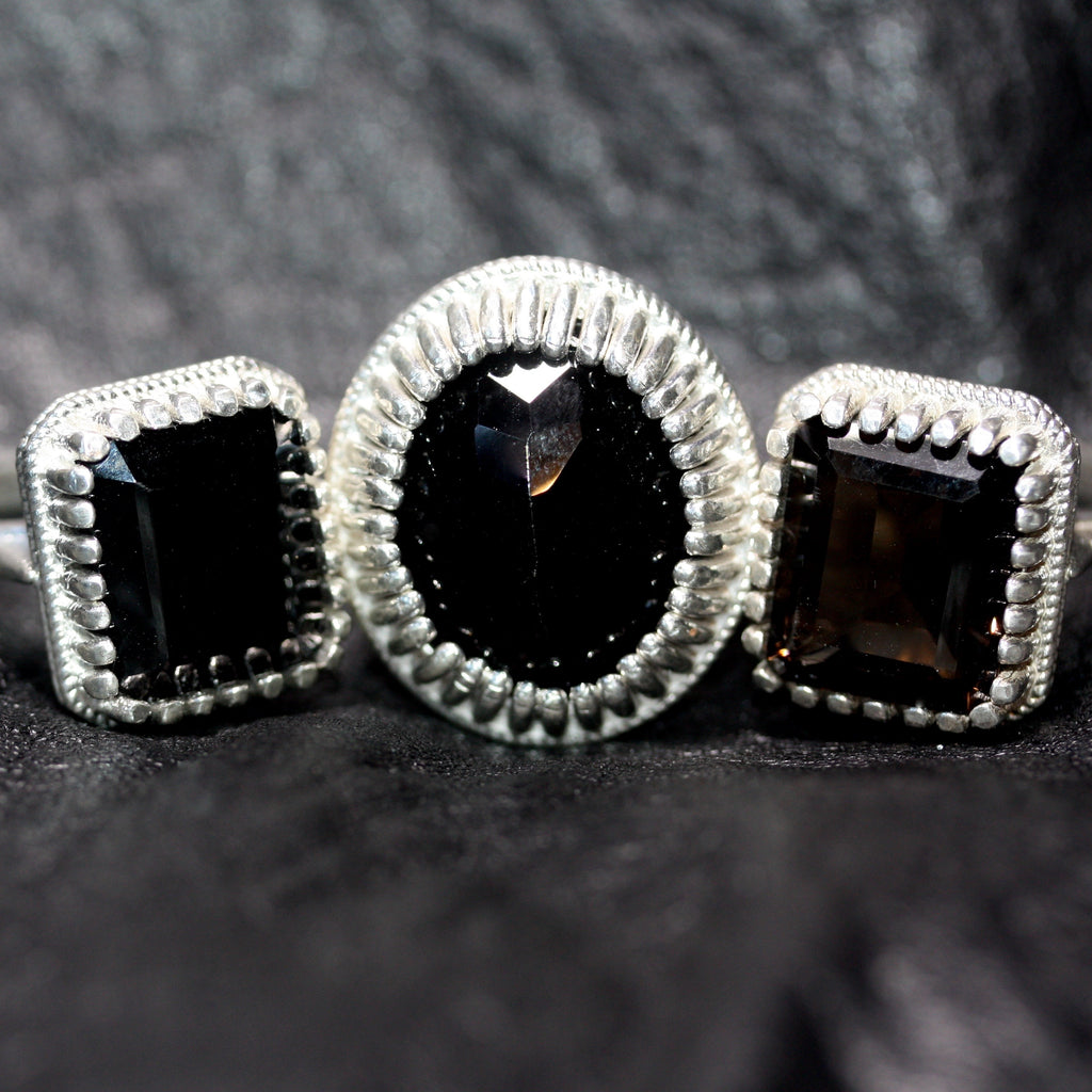 A Back to Black Tudor Throne Ring