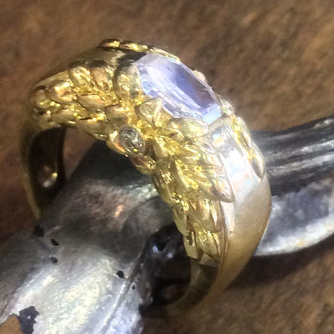 Fine Custom Designed Gold Diamond Rings  (click on picture for more designs)