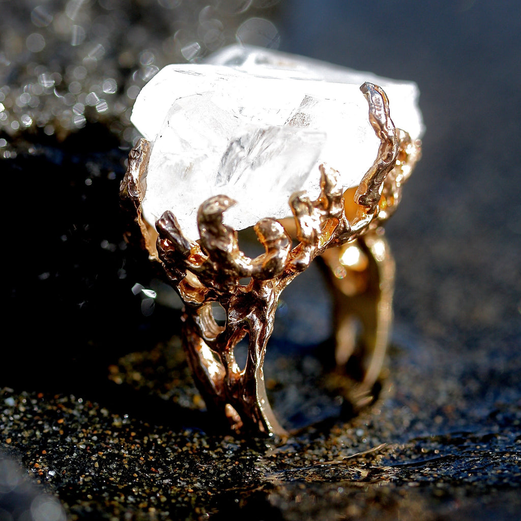 The Seaweed Quartz Ring ( 9ct gold) MADE TO ORDER