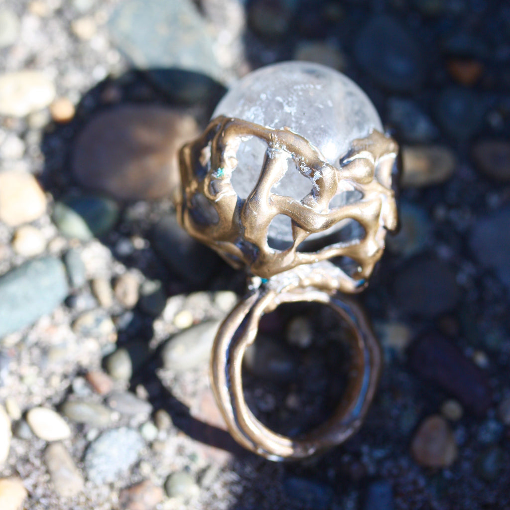 A Bronze Vined Fortune Ring  SALE