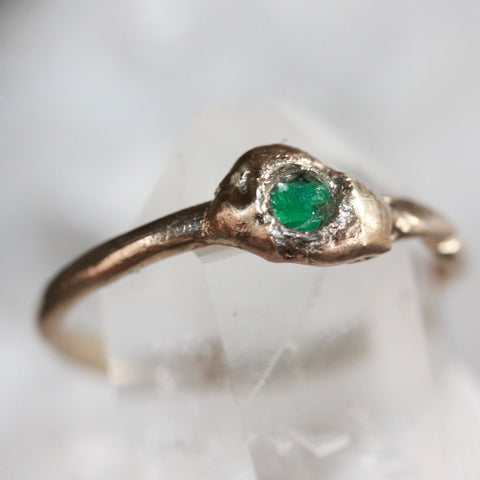 9ct A Gold Organic Emerald Ring SALE