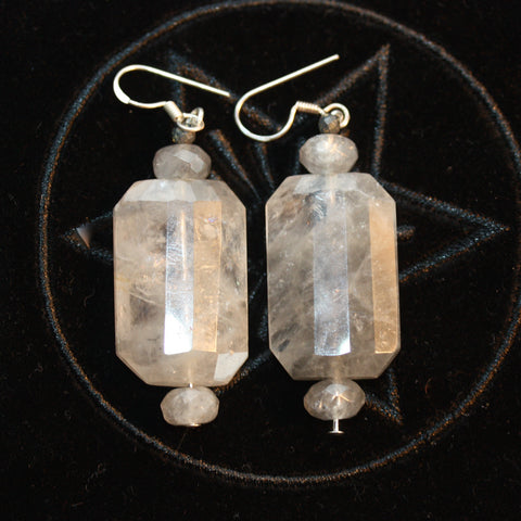 Grey Quartz Earrings 2 SALE
