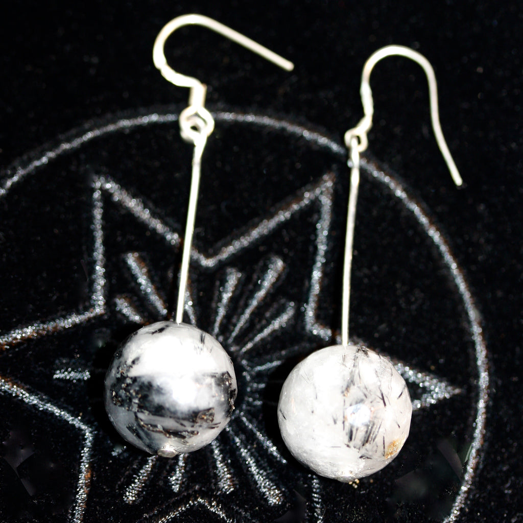 Quartz Rutile Earrings  SALE