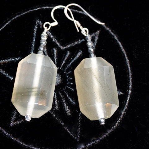 Prehnite Earrings  SALE