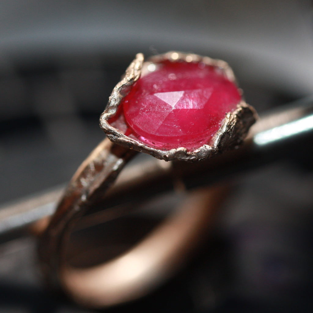 9ct gold Natural ruby  ring SALE