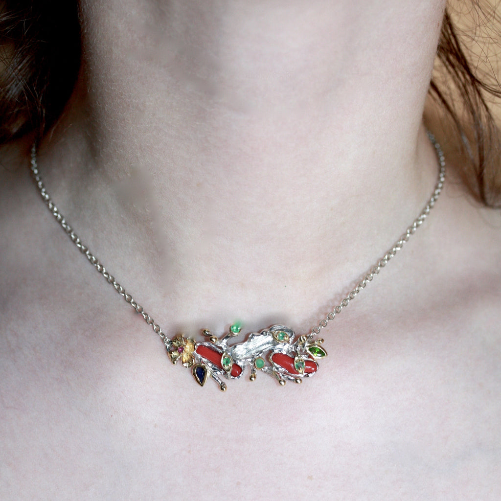 Recycled Flower Vine Choker