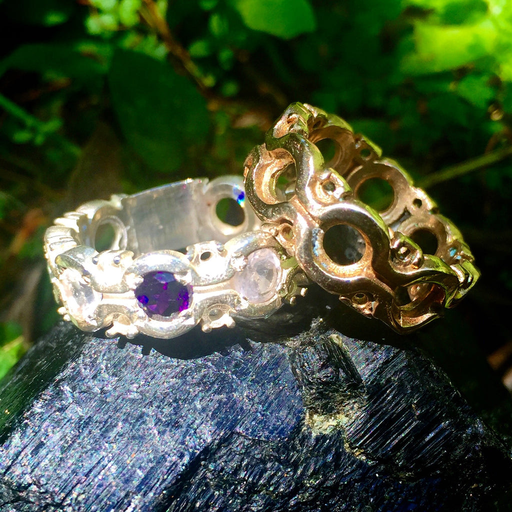 Custom handmade Gold Rings with Stones  (Mens and Womens) click on picture for more designs.