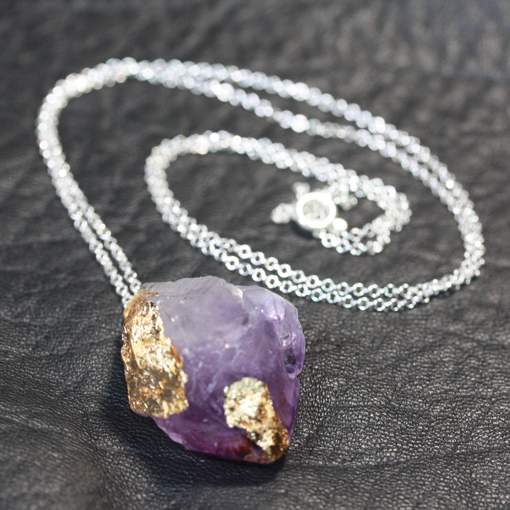 Day 29  Amethyst Rock On Necklace