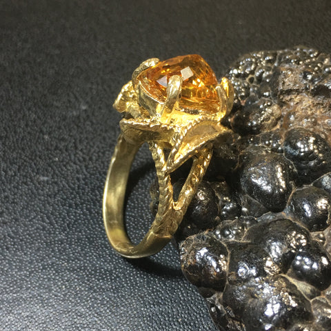 Fallen Petal Citrine Gold Plated SALE