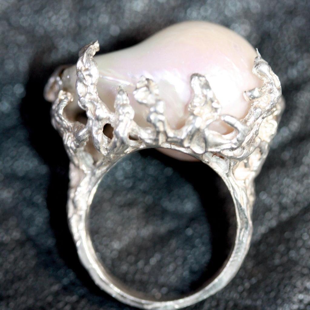 1 a Mabe Pearl Seaweed RIng- SALE